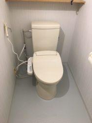 簡易水洗トイレも最新です♪